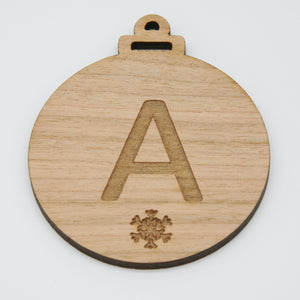 Wood Personalised Name Bauble