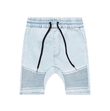 Denim Biker Short