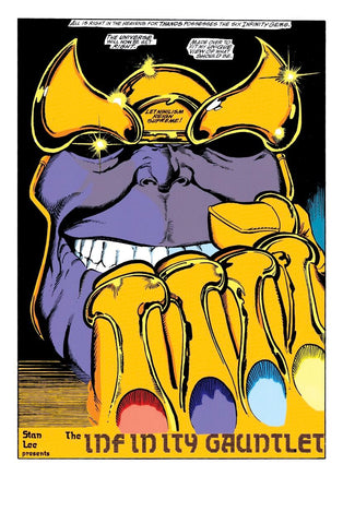 Infinity War, Thanos Gauntlet. Who is Adam Warlock blog post by Animated Apparel Company