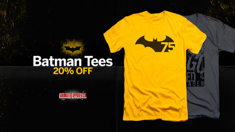 Image of Batman Tee's 20% Off at Animated Apparel Company