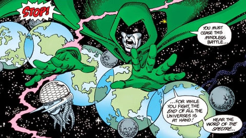 Crisis on Infinite Earth's Comic Book Panel with Dr. Doom - Animated Apparel Company