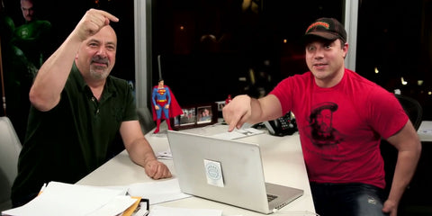 Image of Dan DiDio with Geoff Johns - Animated Apparel Company
