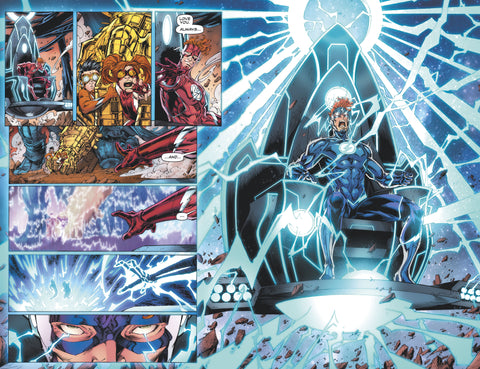 image of Wally West on the Morbus Chair and using it's power - Animated Apparel Company
