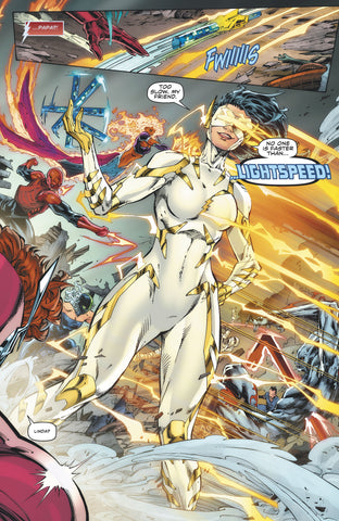 Comic book Image of the speedster Lightspeed