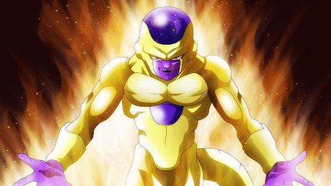 How to beat Goku - Image of the villain Frieza in his golden form - Animated Apparel Company