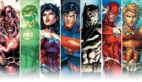 Image of the Justice League from DC Comics New 52 - Animated Apparel Company