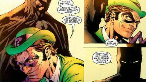 Comic book Panel of the Batman versus the Riddler - Animated Apparel Company