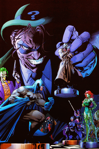 Comic book panel of the Riddler holding chest pieces - Animated Apparel Company