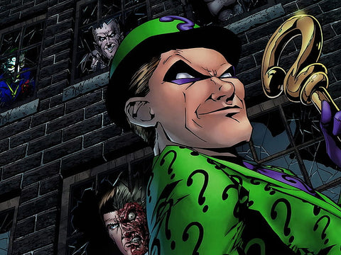 Comic book panel of the Riddler - Animated Apparel Company