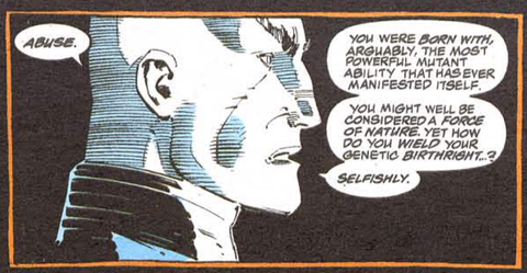 Comic book panel of Professor Xavier from the Uncanny X-men Issue 309 - Animated Apparel Company