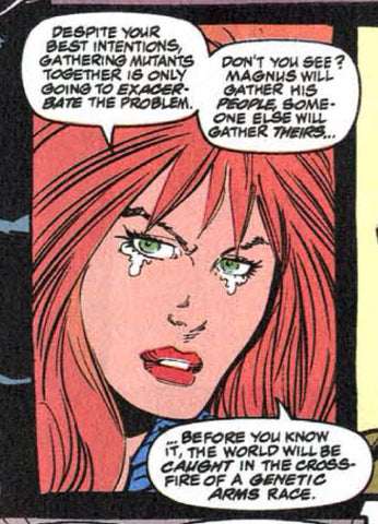 Comic book panel of Jean Gray from Uncanny X-men - Animated Apparel Company