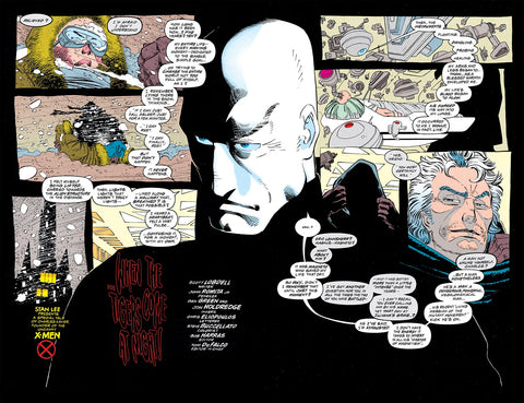 Comic book panel of Charles Xavier from the Uncanny X-men issue 309 - Animated Apparel Company
