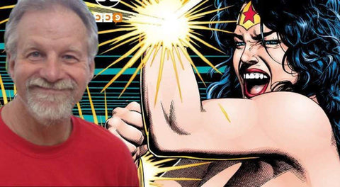 Image of William Messner Loeb with Wonder Woman in Background - Animated Apparel Company