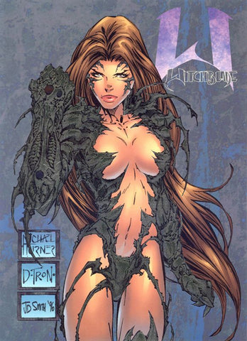 image of witch in dark costume from the witchblade anime series - Animated Apparel Company