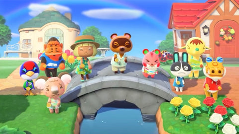 Image of many characters from Animal Crossing: New Horizons - Animated Apparel Company