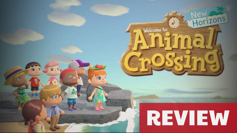 Image of the cast of Animal Crossing along with logo - Animated Apparel Company