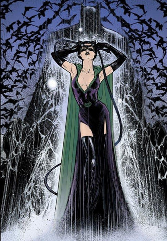 Comic book panel of Catwoman