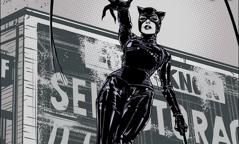 Image of Selina Kyle in her Cat woman costume.