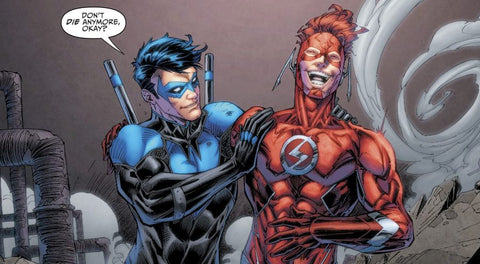 Image of the Flash and Nightwing