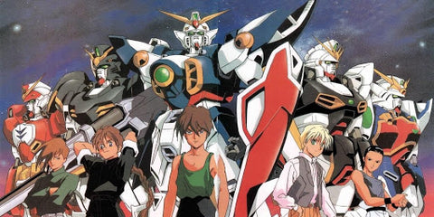 Image of main characters from Mobile Suit Gundam