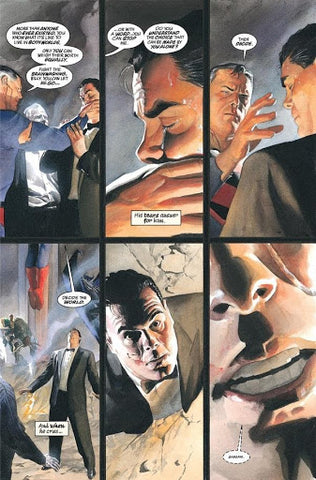 Comic panel of Kingdom Come Superman