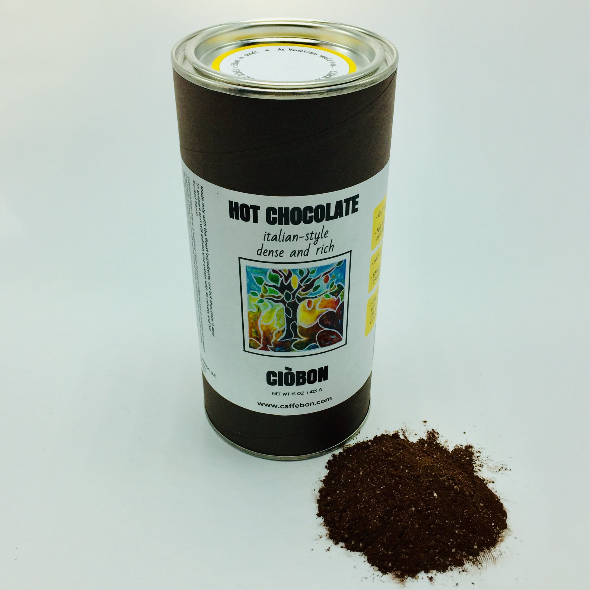 Best Italian hot chocolate mix, dense, rich, gluten free, vegan, small batch crafted. Gifts, Valentine's Day