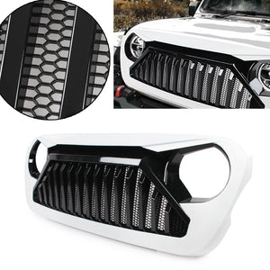 White Grill 2018 2019 Jeep Wrangler JL ABS