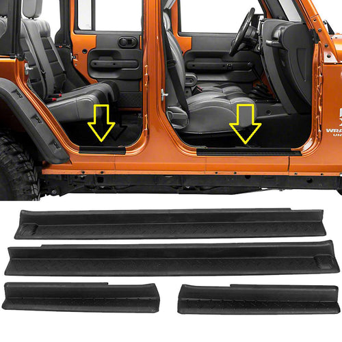 Jeep 4pcs Door Panels For Jeep Wrangler 2007-2020
