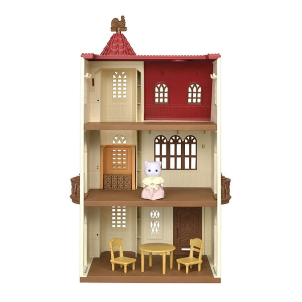 Sylvanian Families - Red Roof Tower Home with Elevator