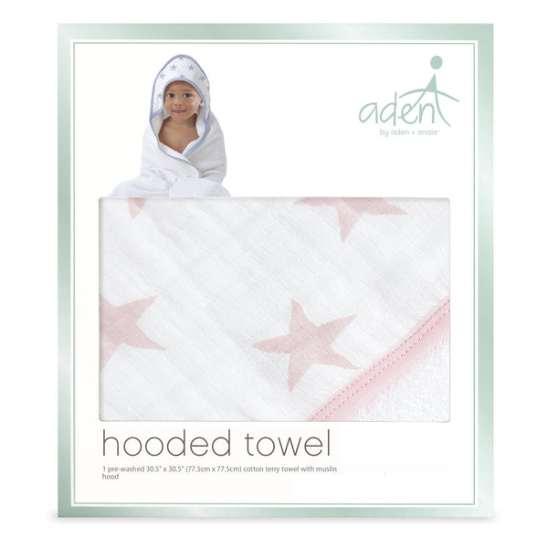 aden by Aden + Anais: doll stars hooded towel