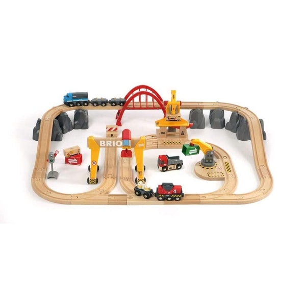 BRIO Set - Cargo Railway Deluxe Set 54 pieces