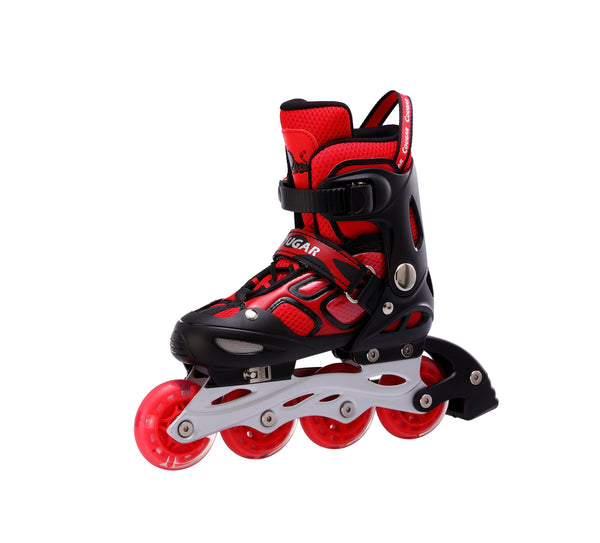 Cougar Outdoor Kids Adjustable Inline Roller Skate-Water Cube Collection-Black