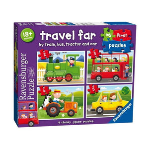 Ravensburger - My First Puzzles - Travel Far (4 puzzles)