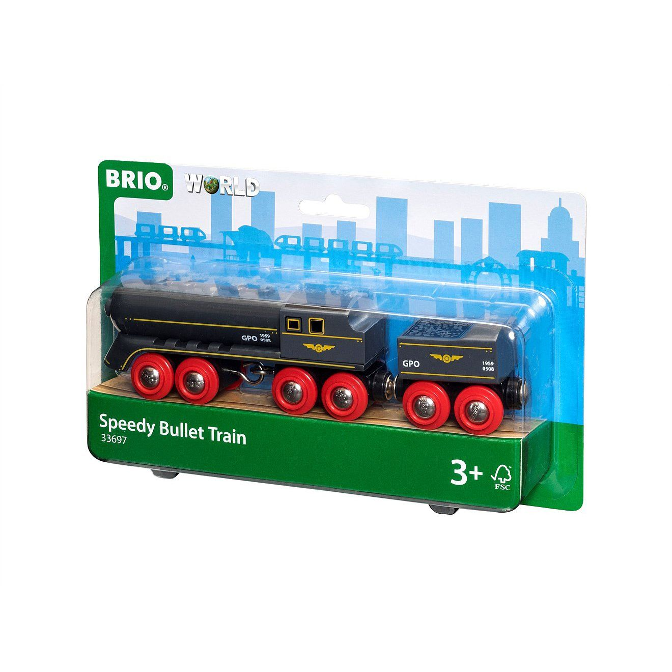 BRIO Train - Speedy Bullet Train 2 pieces
