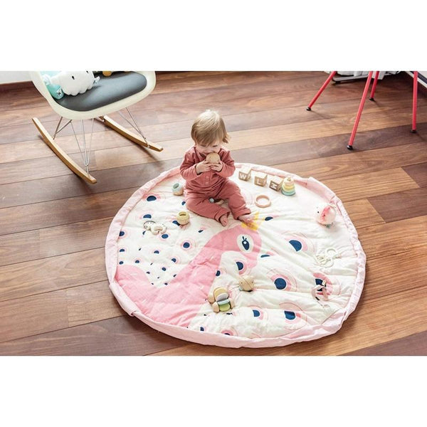 Play&Go Soft Collection Play Mat Toys Organiser - Peacock