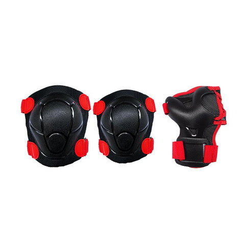 Cougar Six Pack Protective Pad Set-Black|Red