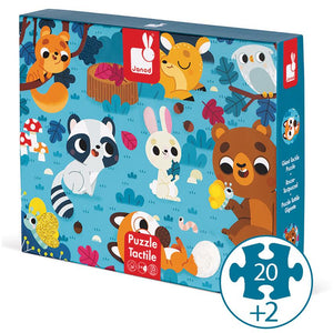 Janod-Tactile Puzzle Forest Animals