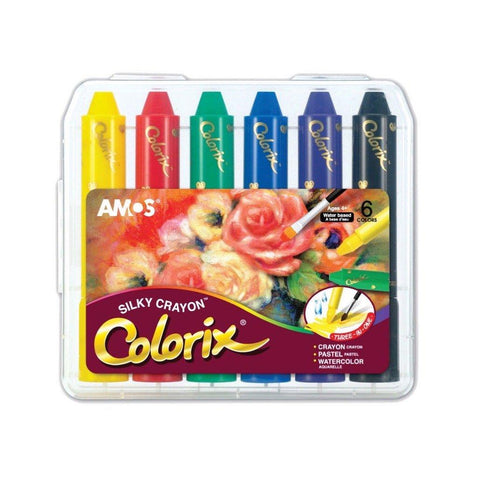 AMOS Colorix Silky Safe Crayon 6 colors Pack