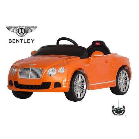 RASTAR Licensed Bentley GTC 12V Electric Ride On Car Orange