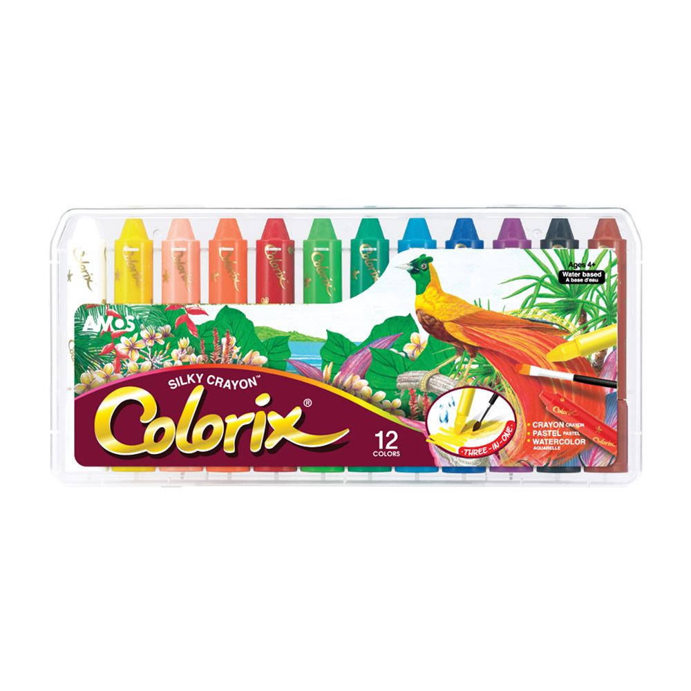AMOS Colorix Silky Safe Crayon 12 colors Pack