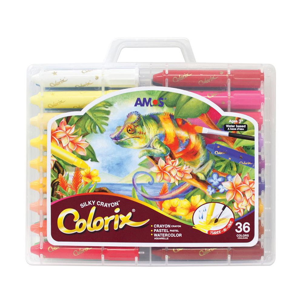 AMOS Colorix Silky Safe Crayon 36 colors Pack