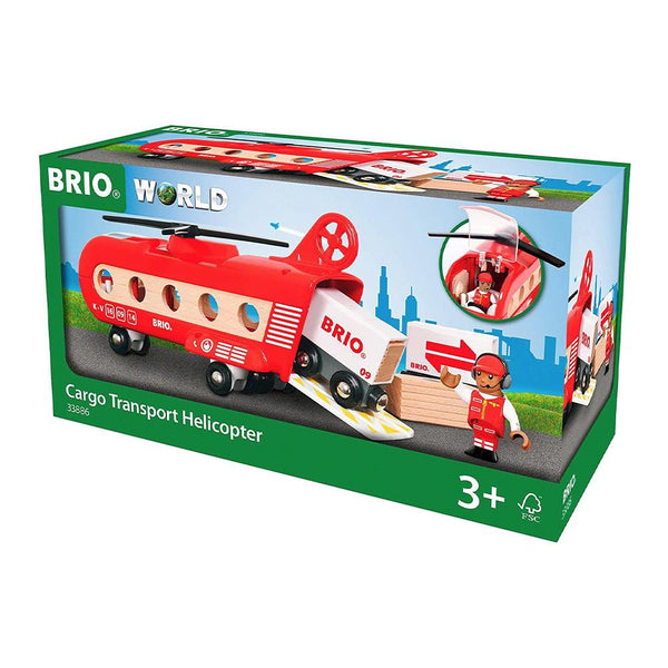 BRIO Vehicle - Cargo Transport Helicopter, 8 piecess