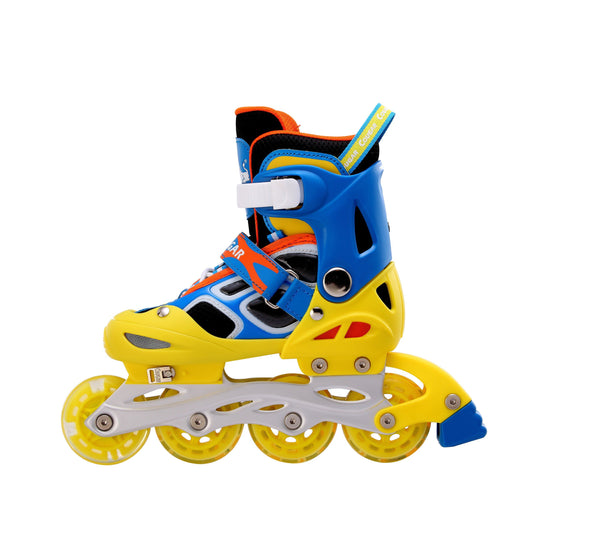 Cougar Outdoor Kids Adjustable Inline Roller Skate-Water Cube Collection-Blue