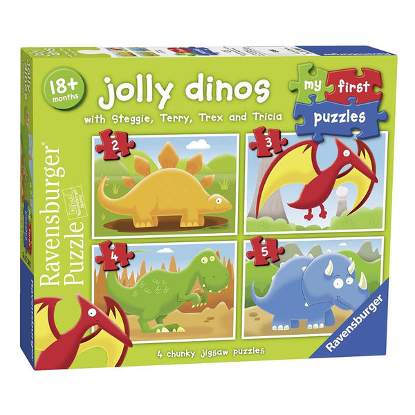 Ravensburger - Jolly Dinos My First Puzzle 2 3 4 5 pieces Jigsaw Puzzle