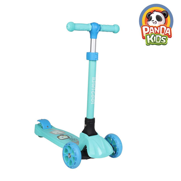 Kiwicool Foldable Toddler Scooter Ride On Toys with Flashing Wheels