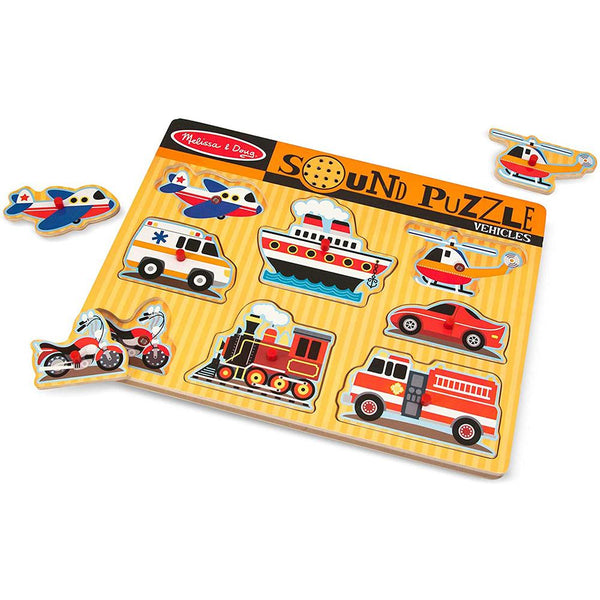 Melissa & Doug - Vehicles Sound Puzzle – 8pc