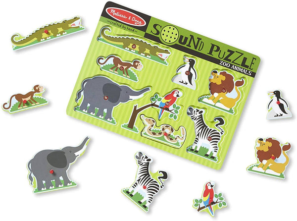 Melissa & Doug – Zoo Animals Sound Puzzle – 8pc