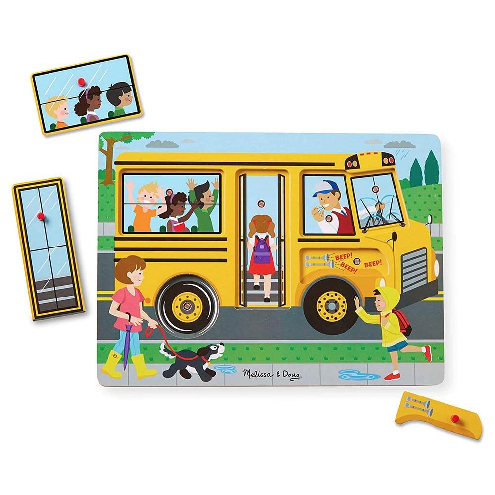 Melissa & Doug - The Wheels on the Bus Song Puzzle – 6pc