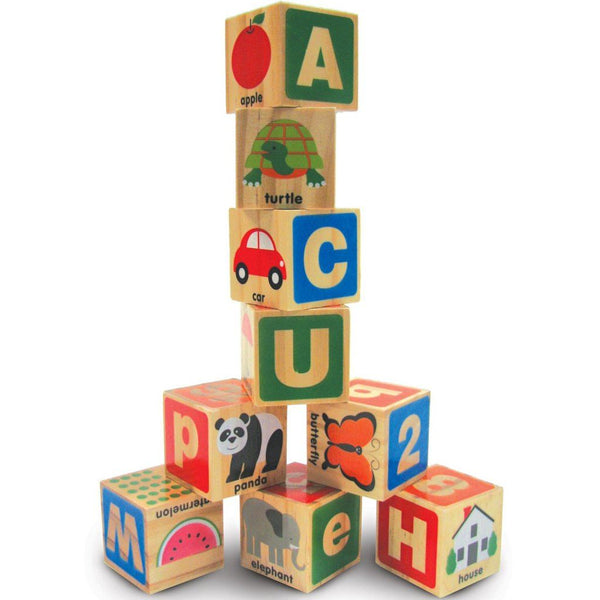 Melissa & Doug - ABC-123 Wooden Blocks