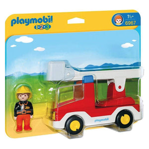 Playmobil 1.2.3 Ladder Unit Fire Truck - PMB6967